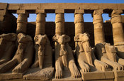 Temple of Karnak, row of ram-headed sphinxes, Luxor, Egypt