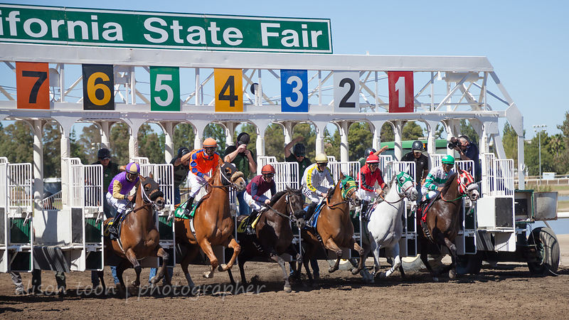 Out of the gate, race six, Sacramento card at the California State Fair