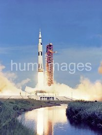 The 363-foot tall Apollo 15 Saturn V is launched from Pad A, Launch Complex 39, Kennedy Space Center, Florida, at 9:34:00.79 ...