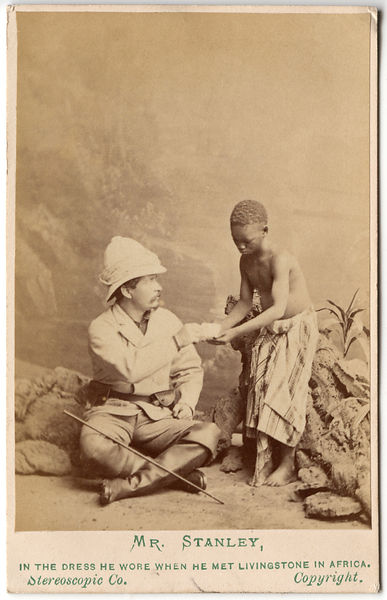 Sir Henry Morton Stanley; Kalulu (Ndugu M'hali) by London Stereoscopic & Photographic Company albumen carte-de-visite, 1872 ©...