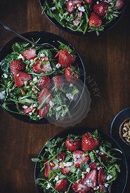 Strawberry , Spinach, and Arugula Salad