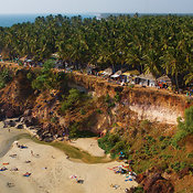 Varkala, Guesthouses on Cliff