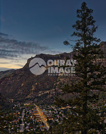 Dusk in Ouray