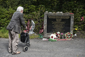 Bill Shankly Memorial, Glenbuck, East Ayshire. Taken in the week of the 100th year since his birth