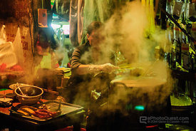 Soup Kitchen at Night in Hanoi
