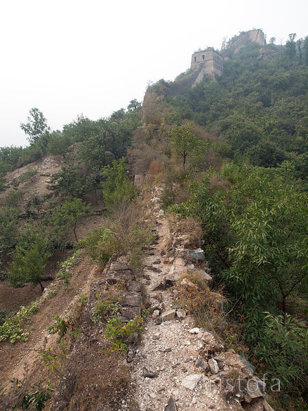 this section of the Great Wall is in a poor state of repair