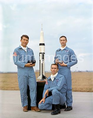 (September 1968) --- This is a portrait of the Apollo-Saturn 7 crew members. They are, left to right, astronauts Walter M. Sc...