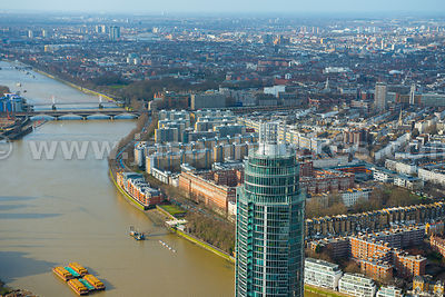 Aerial view of St George's Wharf, Battersea, London