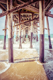 Under the Pier in Southern California Picture