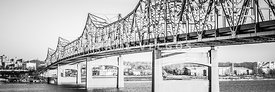 Peoria Bridge Panoramic Black and White Picture