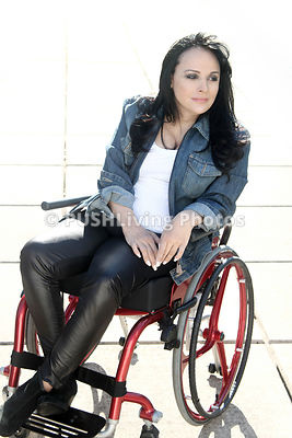 Portraiture of a woman in a wheelchair