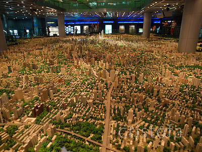 huge scale model of Shanghaiat the Urban Development Building