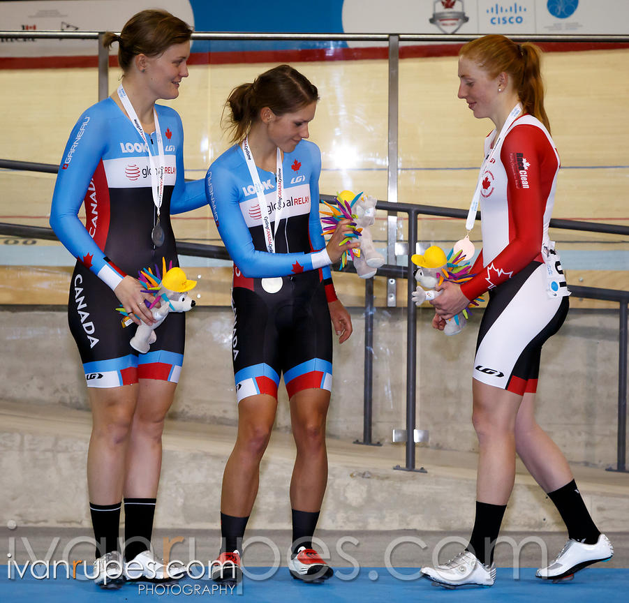 Women's omnium podium. Milton International Challenge, January 11, 2015