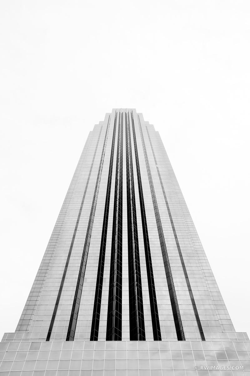 WILLIAMS TOWER HOUSTON TEXAS ARCHITECTURE BLACK AND WHITE VERTICAL