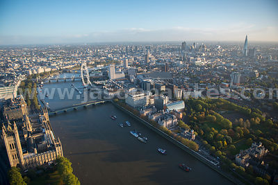 London. Aerial view of Lambeth