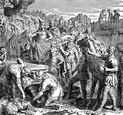 Funeral of Visigoth king Alaric