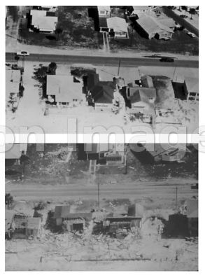 Homes wrecked by Hurricane Eloise, 1975