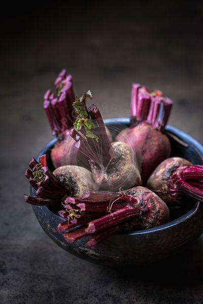 A bowl of red beets