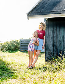 Danish mother and daughter at a Klitmøller summer house 2
