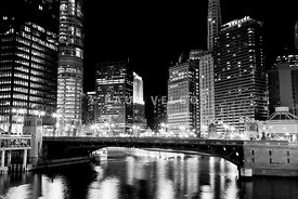 Chicago Buildings at State Street Bridge