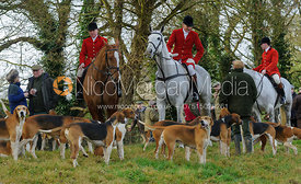 at the meet - The Belvoir Hounds at Ingarsby Hall 3/2