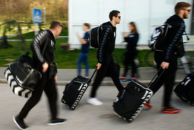 Players of PPD Zagreb during the Final Tournament - Final Four - SEHA - Gazprom league, team arrival in Varazdin, Croatia, 31...