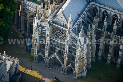 Aerial view of Westminster Abbey, London