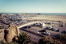 Santa Monica Beach Pedestrian Bridge and Pier