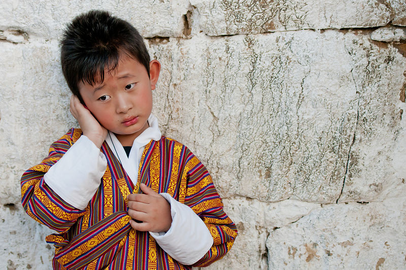 This portrait of a kid was shot during the Thimphu festival, Bhutan