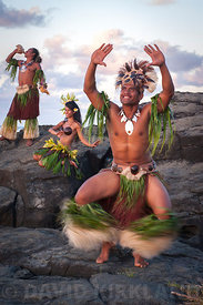 Cultural performers on Black Rock, Rarotonga