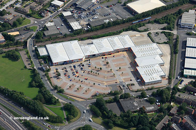 aerial photograph of Tulip South Retail Park, Tulip Road, Leeds LS10 2BB,