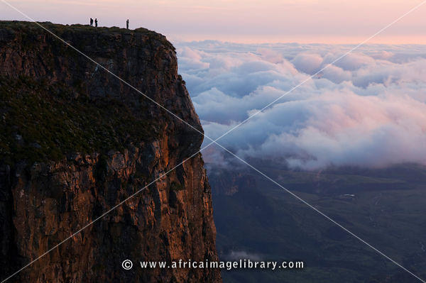 view from the top of the amphitheatre, Drakensberg Mountain, South Africa