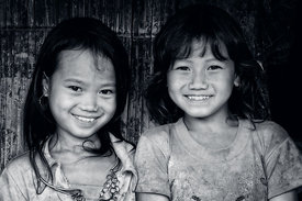 Two Young Hmong Girls