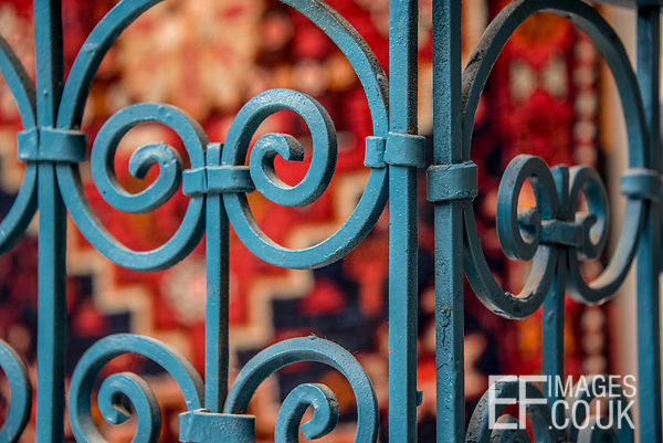 Blue Wrought Iron