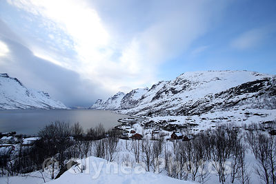Fjord winter landscape of Norway