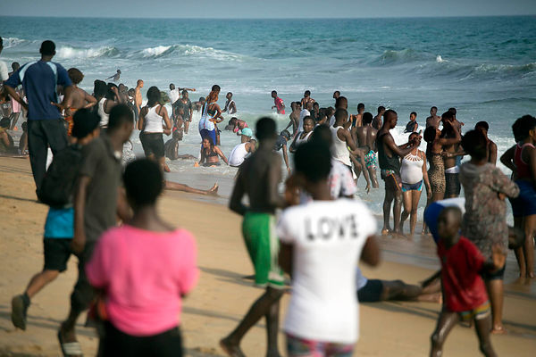 Ivory Coast, Grand-Bassam. The beach