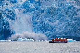 Ice-Calving Glacier with Dinghy