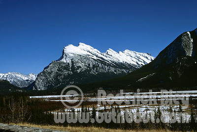 Snow Capped Rundle Mountain