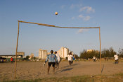 Mozambique, Beira, football field on the outskirts of town.