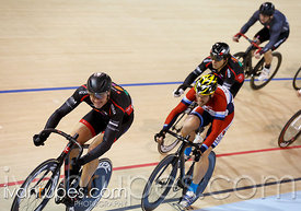 Master B keirin final 7-12. 2014 Canadian Track Championships, January 6, 2015