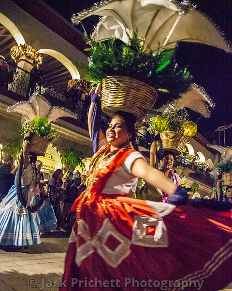 "On Christmas eve, Catholic churches and social groups from Oaxaca parade around the town's zocalo, or main square in the ""cal..."