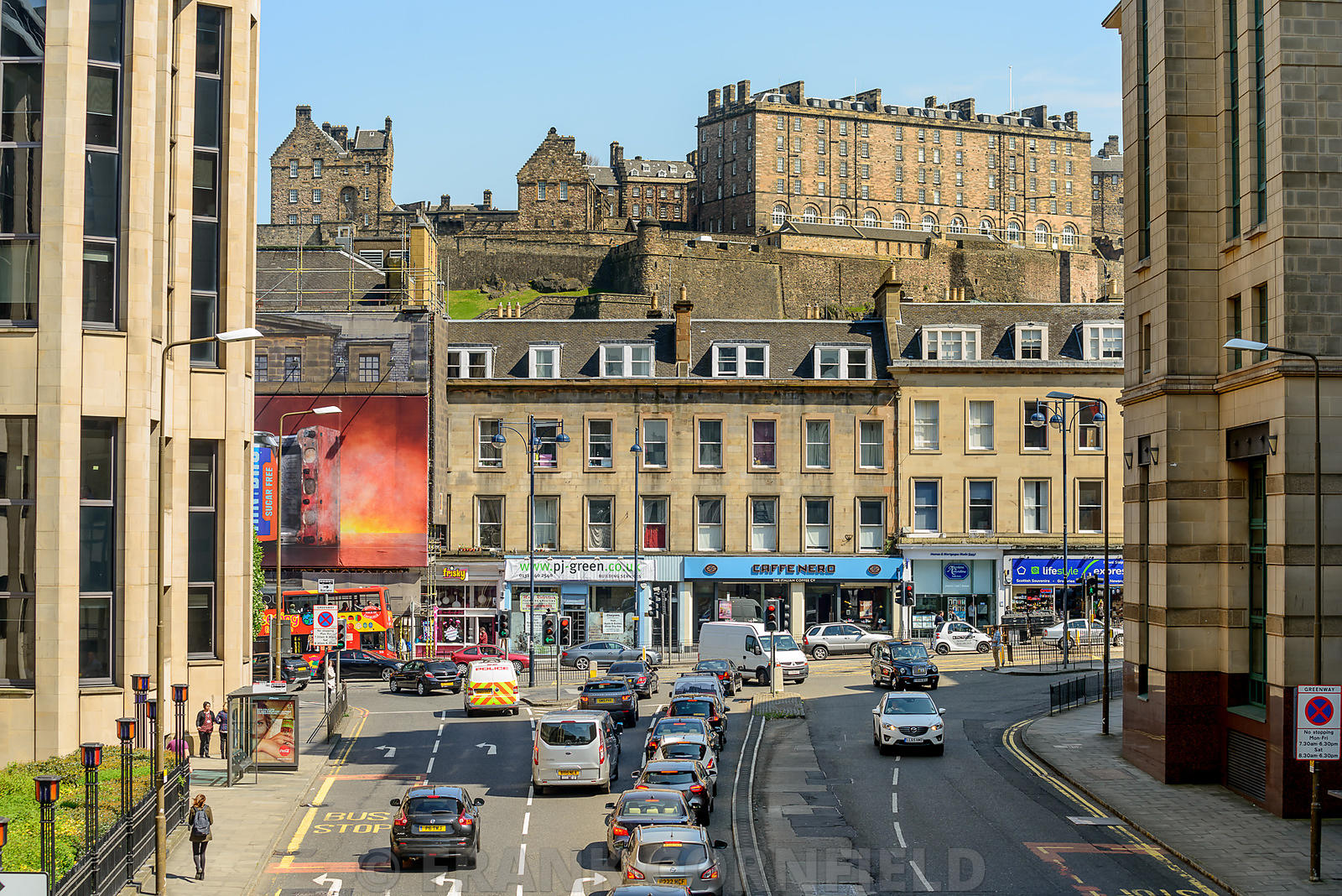 West Approach Road junction with Lothian Road.