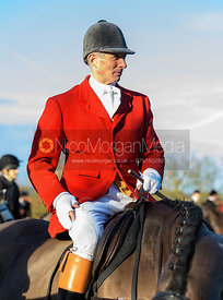 Alan Kasket At the meet. The Belvoir Hunt meet at Waltham House 22/12