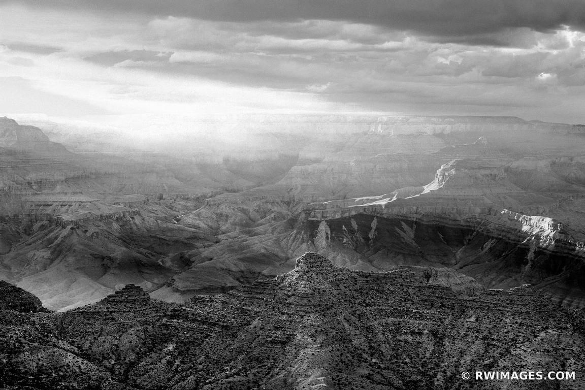 LIGHT FROM THE WEST GRAND CANYON NATIONAL PARK ARIZONA BLACK AND WHITE