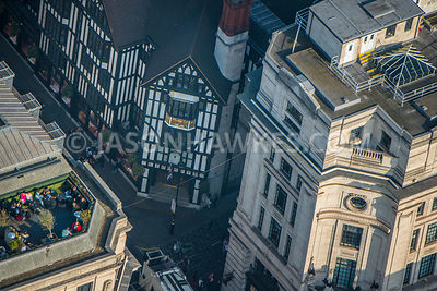Aerial view of London, Liberty Department Store.