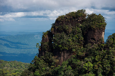 Tepui, flat top mountain, in Kupinang, Potaro-Siparuni region, Brazil Guyana border, Guyana, South America