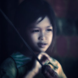 """Child at Tonle Sap - 2"""