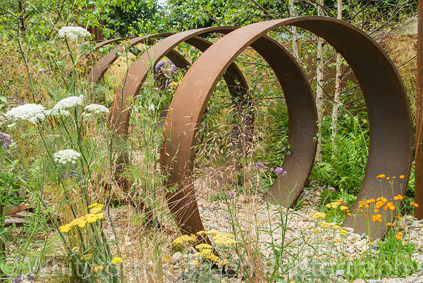 The Brownfield – Metamorphosis garden at the RHS Hampton Court Flower Show 2017. Designer: Martyn Wilson. Sponsor: St Modwen ...