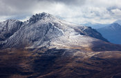 View of Liathach from Ben Alligin in the Torridon mountains of North West Scotland.