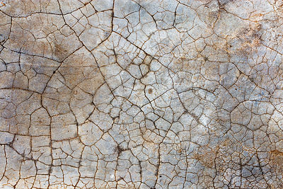 Weathered cement at a temple in the desert, Pushkar, Rajasthan, India